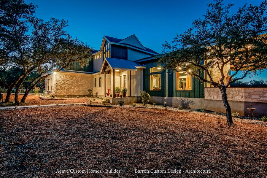 Likeness-Spicewood-TX-Barron-Custom-Design-Exterior-at-Night